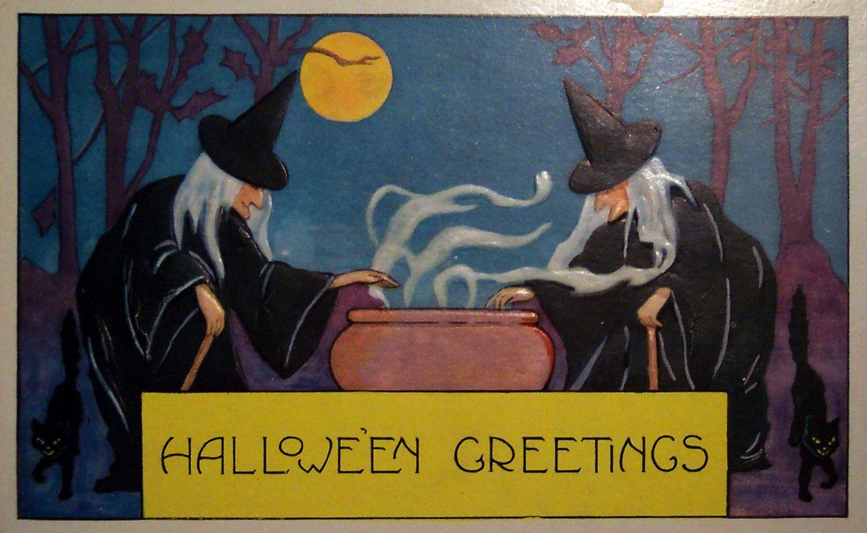 Free vintage halloween i halloween e card 001391507x927x24bpp m4hsunfo